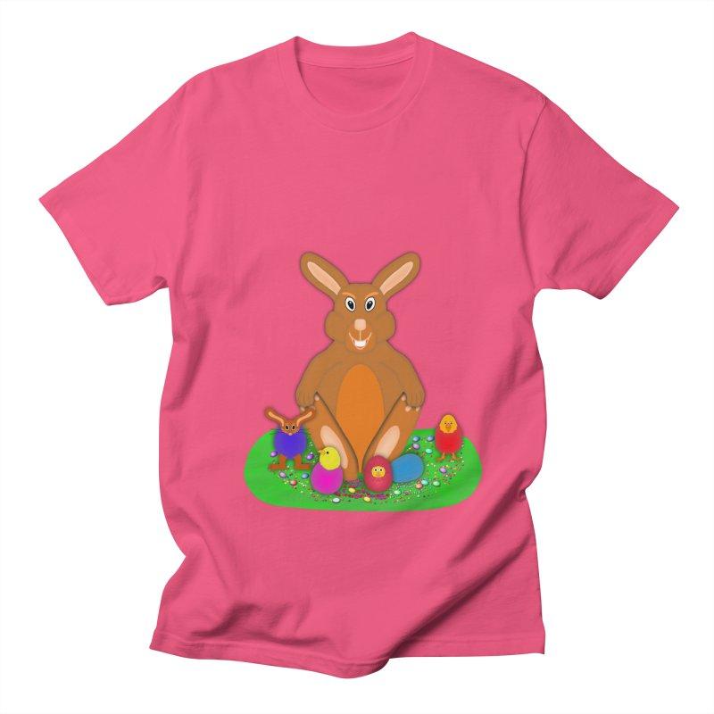 Funny Bunny Women's Regular Unisex T-Shirt by nicolekieferdesign's Artist Shop