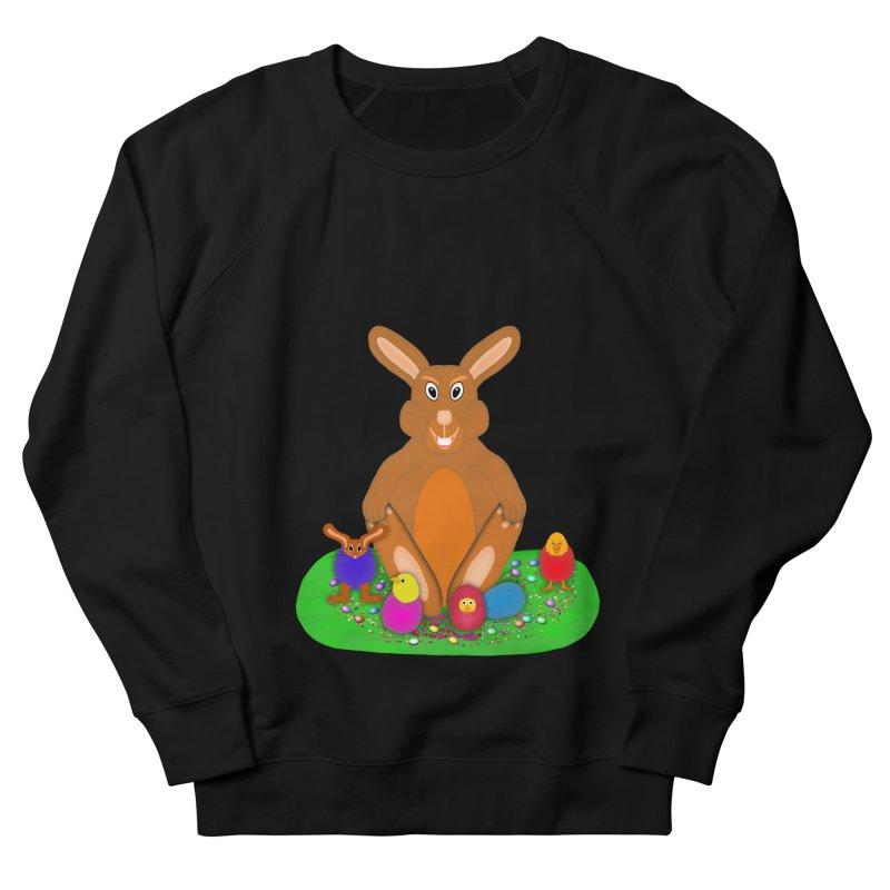 Funny Bunny Men's French Terry Sweatshirt by nicolekieferdesign's Artist Shop