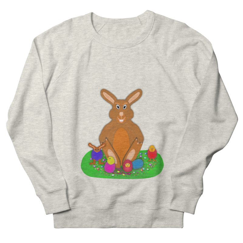 Funny Bunny Men's French Terry Sweatshirt by nicolekieferdesign's Artist Shop