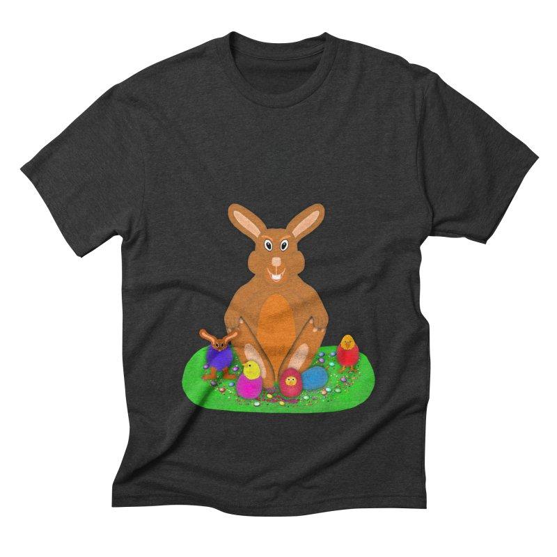 Funny Bunny Men's Triblend T-Shirt by nicolekieferdesign's Artist Shop