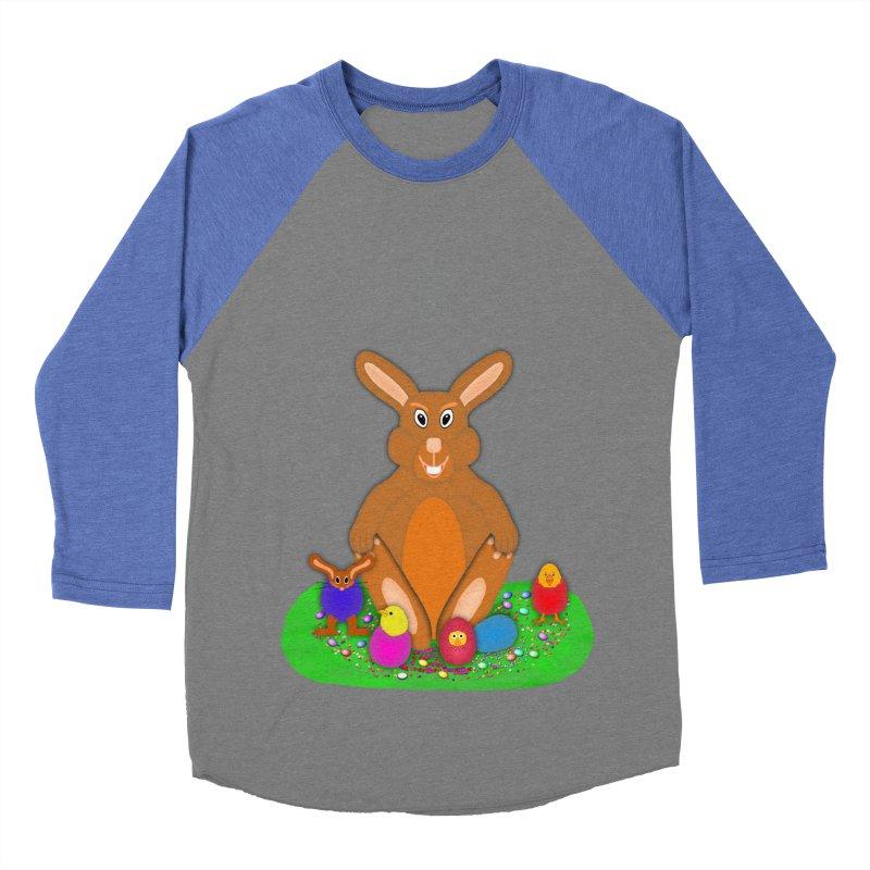 Funny Bunny Women's Baseball Triblend T-Shirt by nicolekieferdesign's Artist Shop