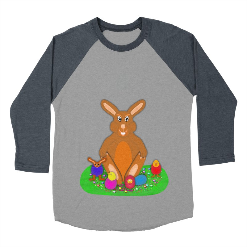 Funny Bunny Women's Baseball Triblend Longsleeve T-Shirt by nicolekieferdesign's Artist Shop
