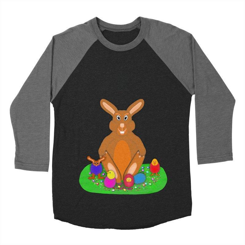 Funny Bunny Men's Baseball Triblend Longsleeve T-Shirt by nicolekieferdesign's Artist Shop