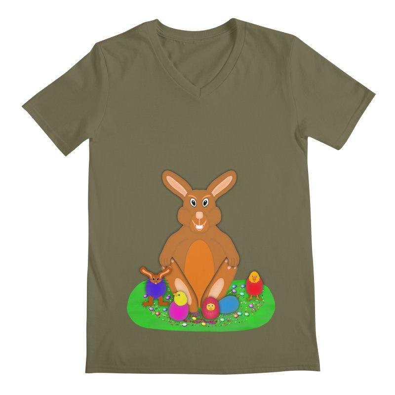 Funny Bunny Men's V-Neck by nicolekieferdesign's Artist Shop
