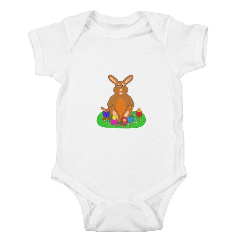 Funny Bunny Kids Baby Bodysuit by nicolekieferdesign's Artist Shop