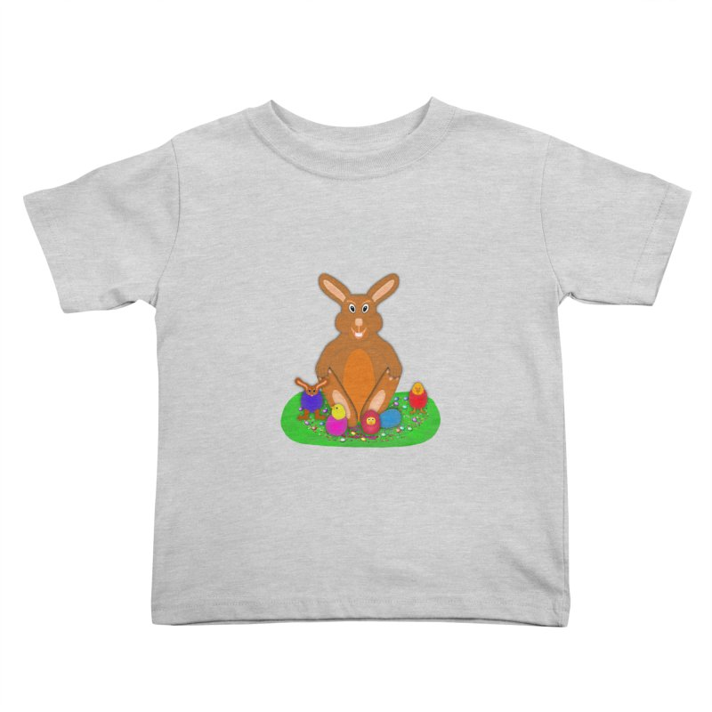 Funny Bunny Kids Toddler T-Shirt by nicolekieferdesign's Artist Shop