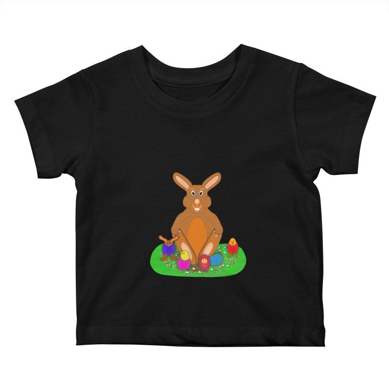 Funny Bunny Kids Baby T-Shirt by nicolekieferdesign's Artist Shop