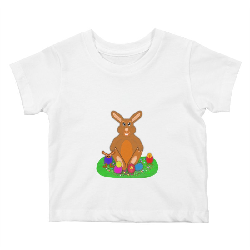 Funny Bunny Kids Baby T-Shirt by nicolekieferdesign's Artist Shop