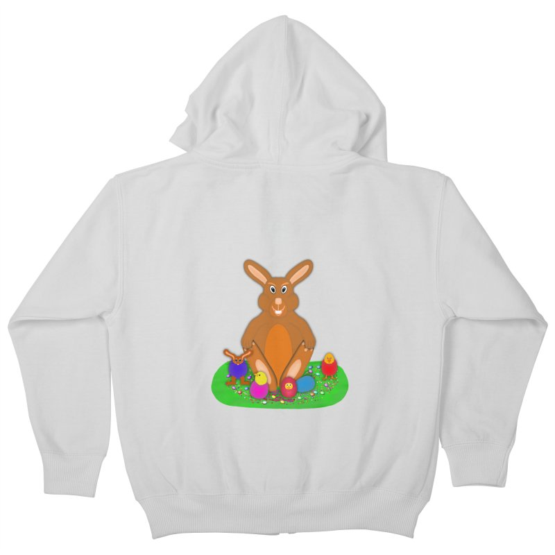 Funny Bunny Kids Zip-Up Hoody by nicolekieferdesign's Artist Shop