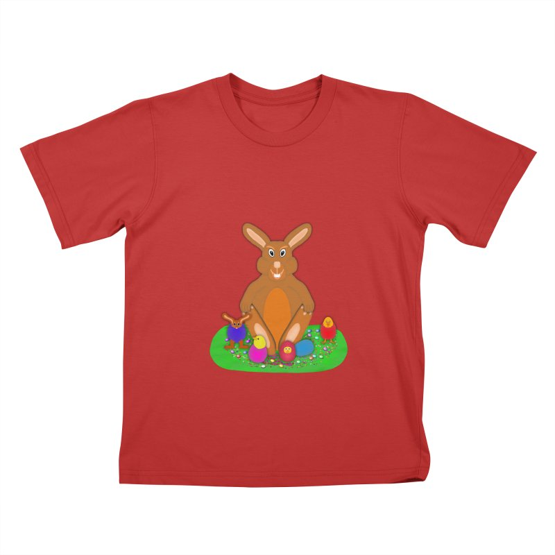 Funny Bunny Kids T-Shirt by nicolekieferdesign's Artist Shop