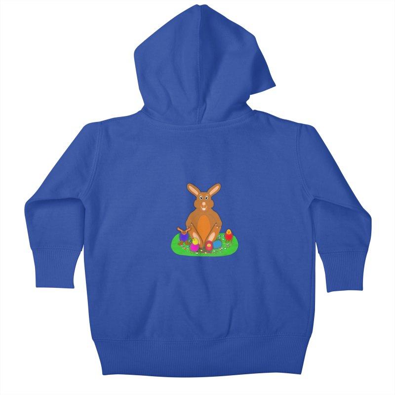Funny Bunny Kids Baby Zip-Up Hoody by nicolekieferdesign's Artist Shop