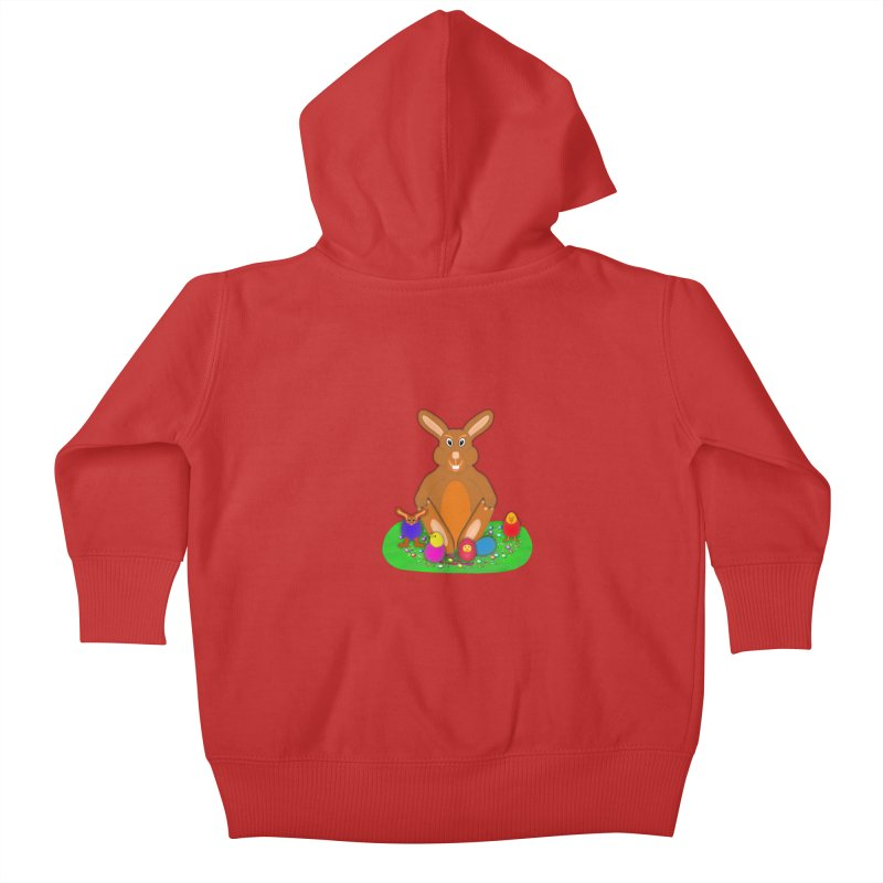 Funny Bunny Kids Baby Zip-Up Hoody by nicolekieferdesign's Artist Shop