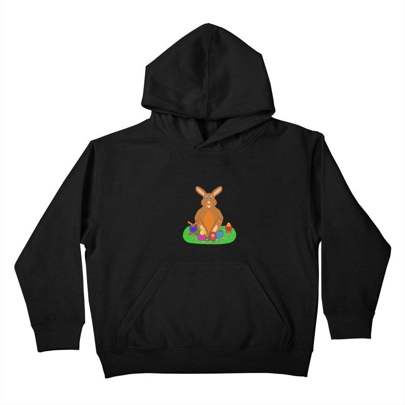 Funny Bunny Kids Pullover Hoody by nicolekieferdesign's Artist Shop