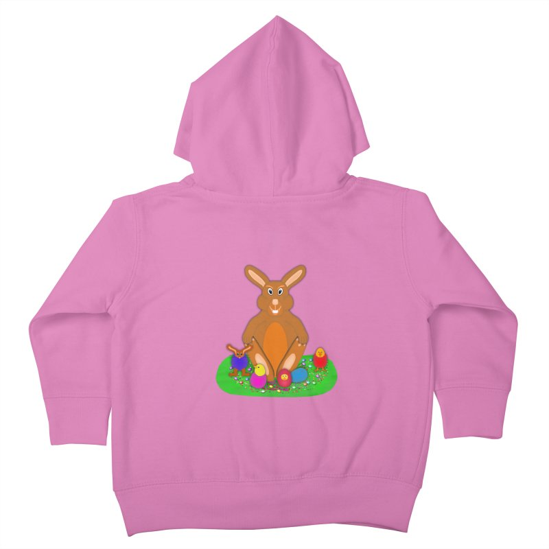 Funny Bunny Kids Toddler Zip-Up Hoody by nicolekieferdesign's Artist Shop