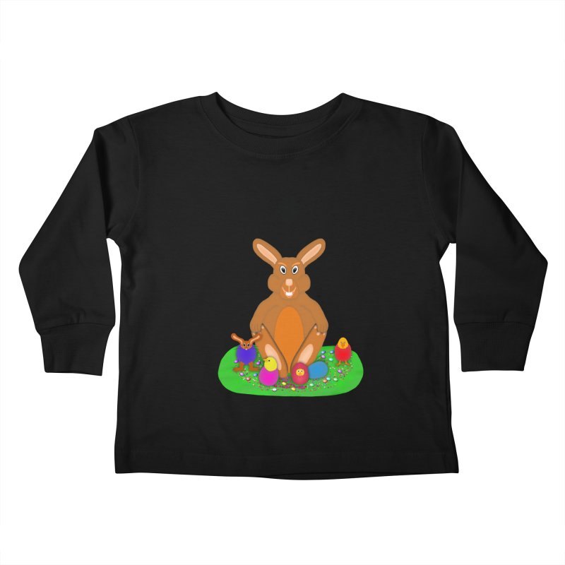 Funny Bunny Kids Toddler Longsleeve T-Shirt by nicolekieferdesign's Artist Shop
