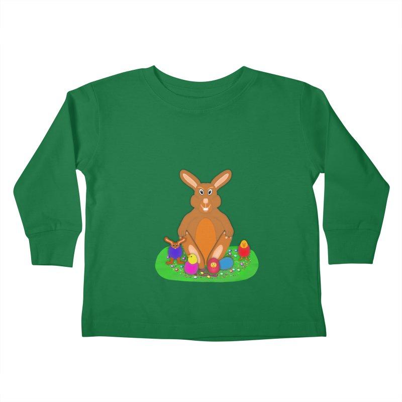 Funny Bunny Kids Toddler Longsleeve T-Shirt by nicolekieferdesign's Artist Shop