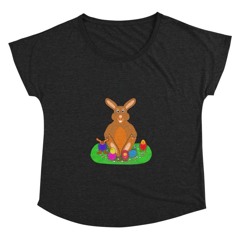 Funny Bunny Women's Dolman Scoop Neck by nicolekieferdesign's Artist Shop