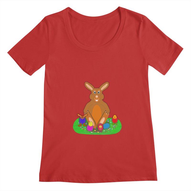 Funny Bunny Women's Regular Scoop Neck by nicolekieferdesign's Artist Shop