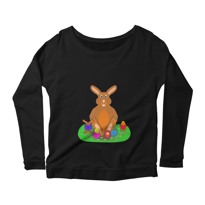 Funny Bunny Women's Scoop Neck Longsleeve T-Shirt by nicolekieferdesign's Artist Shop