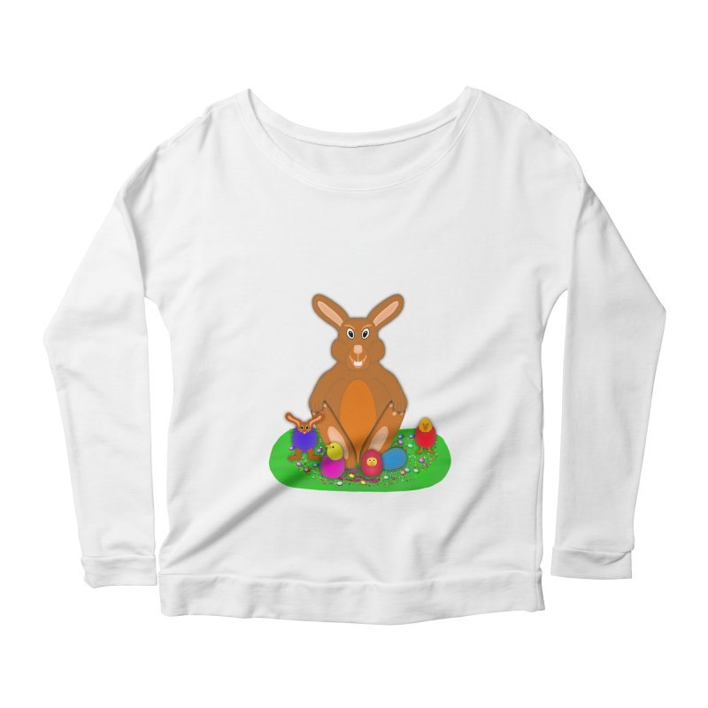 Funny Bunny Women's Scoop Neck Longsleeve T-Shirt by nicolekieferdesign's Artist Shop