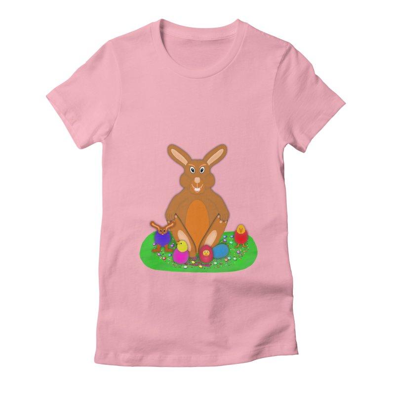 Funny Bunny Women's Fitted T-Shirt by nicolekieferdesign's Artist Shop