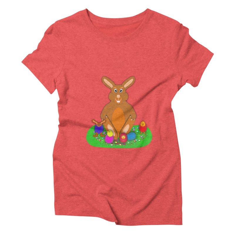 Funny Bunny Women's Triblend T-Shirt by nicolekieferdesign's Artist Shop
