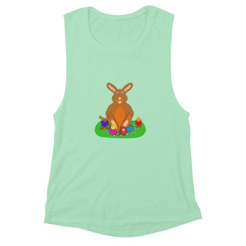 Funny Bunny Women's Muscle Tank by nicolekieferdesign's Artist Shop