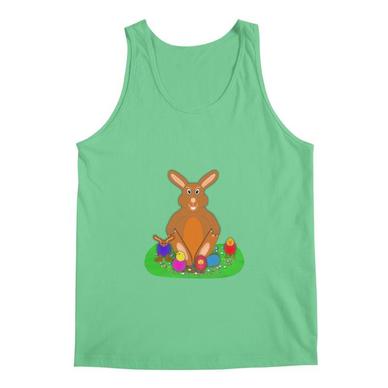 Funny Bunny Men's Regular Tank by nicolekieferdesign's Artist Shop