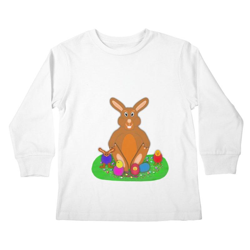 Funny Bunny Kids Longsleeve T-Shirt by nicolekieferdesign's Artist Shop