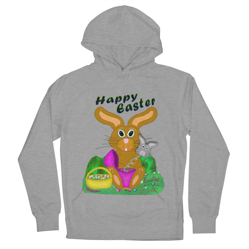 Prankster Bunny Women's French Terry Pullover Hoody by nicolekieferdesign's Artist Shop