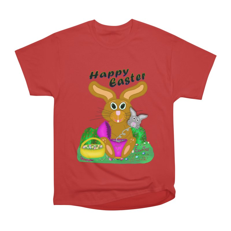 Prankster Bunny Men's Heavyweight T-Shirt by nicolekieferdesign's Artist Shop
