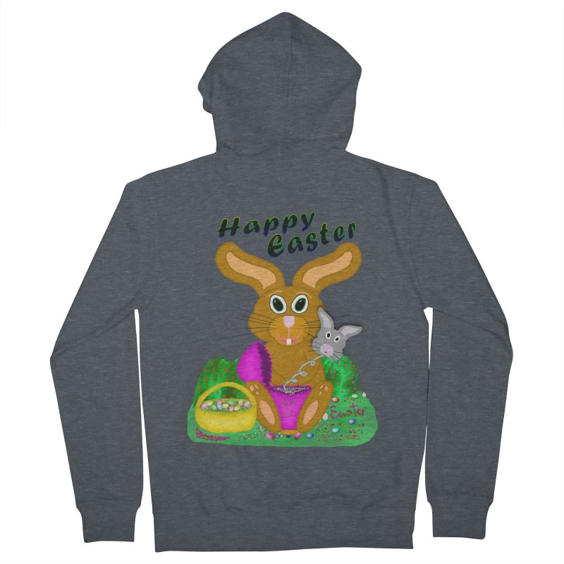 Prankster Bunny Women's French Terry Zip-Up Hoody by nicolekieferdesign's Artist Shop
