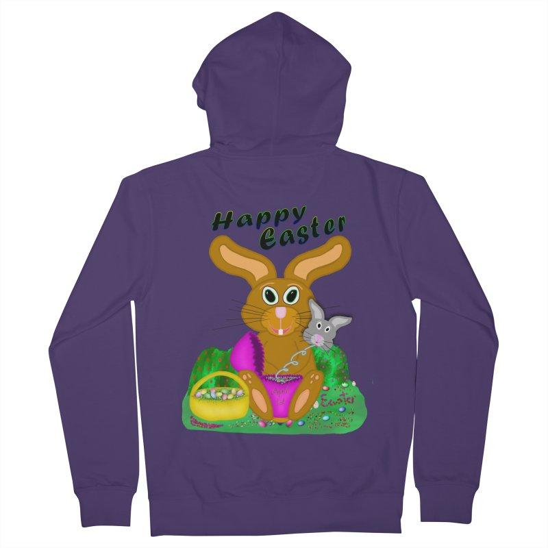 Prankster Bunny Women's French Terry Zip-Up Hoody by nicolekieferdesign's Artist Shop