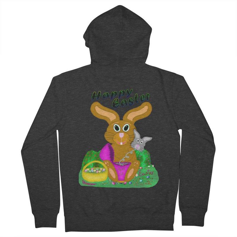 Prankster Bunny Men's French Terry Zip-Up Hoody by nicolekieferdesign's Artist Shop