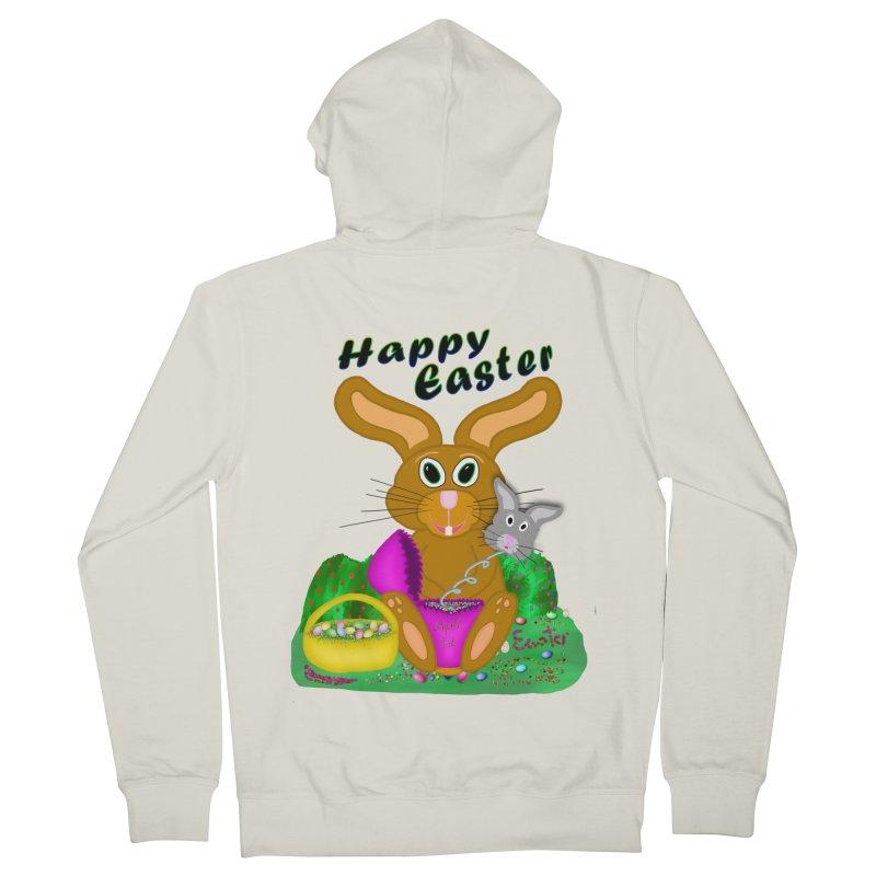 Prankster Bunny Men's Zip-Up Hoody by nicolekieferdesign's Artist Shop