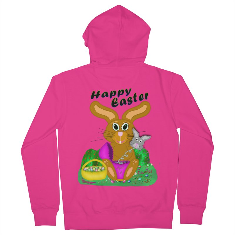 Prankster Bunny Men's Zip-Up Hoody by nicolekieferdesign's Artist Shop