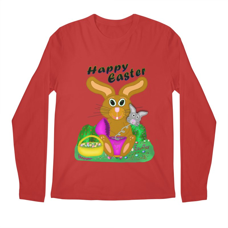 Prankster Bunny Men's Regular Longsleeve T-Shirt by nicolekieferdesign's Artist Shop