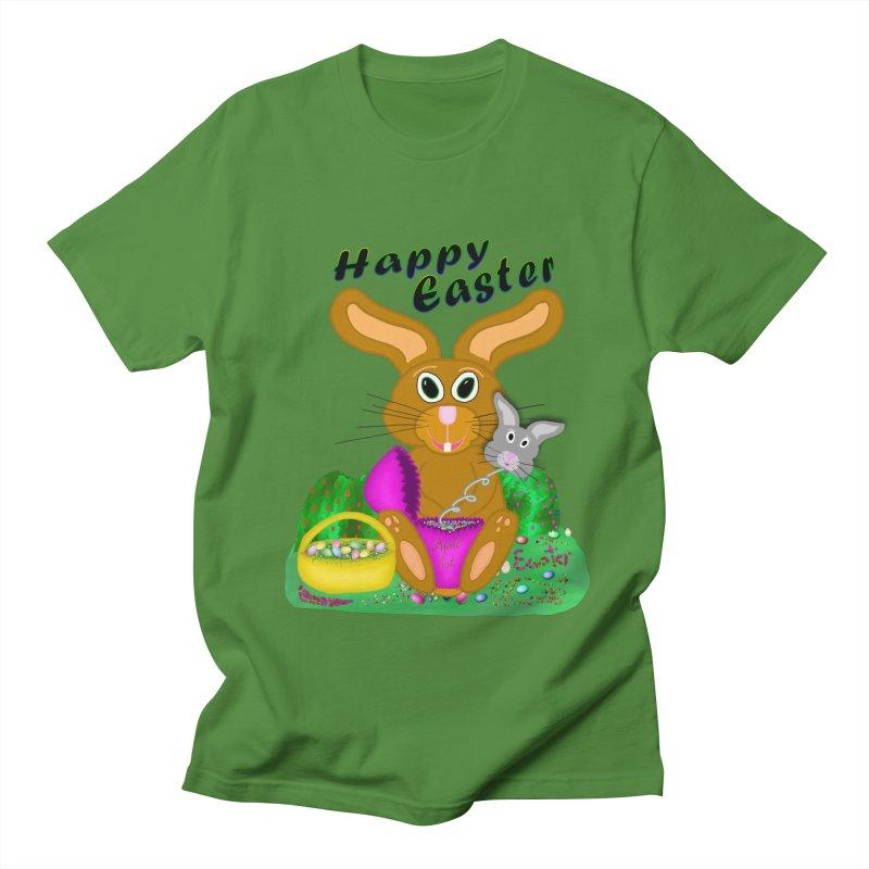 Prankster Bunny Men's Regular T-Shirt by nicolekieferdesign's Artist Shop