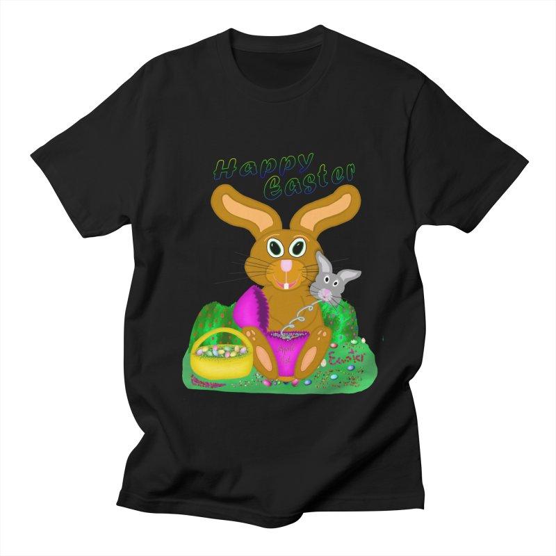 Prankster Bunny Men's T-Shirt by nicolekieferdesign's Artist Shop