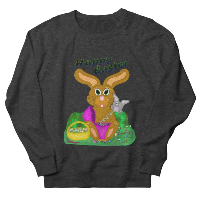 Prankster Bunny Women's French Terry Sweatshirt by nicolekieferdesign's Artist Shop