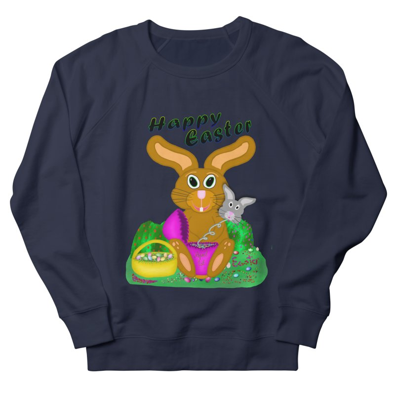 Prankster Bunny Women's French Terry Sweatshirt by nicolekieferdesign's Artist Shop
