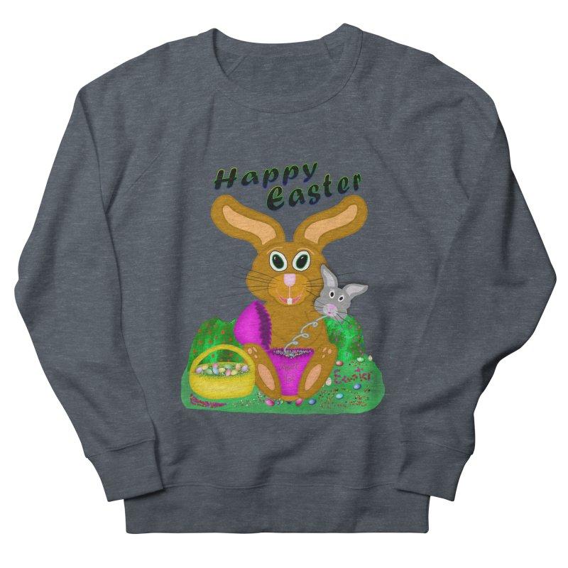 Prankster Bunny Men's French Terry Sweatshirt by nicolekieferdesign's Artist Shop