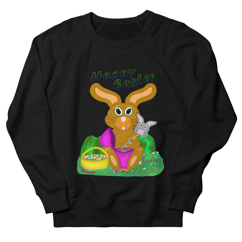 Prankster Bunny Men's French Terry Sweatshirt by nicolekieferdesign's Artist Shop