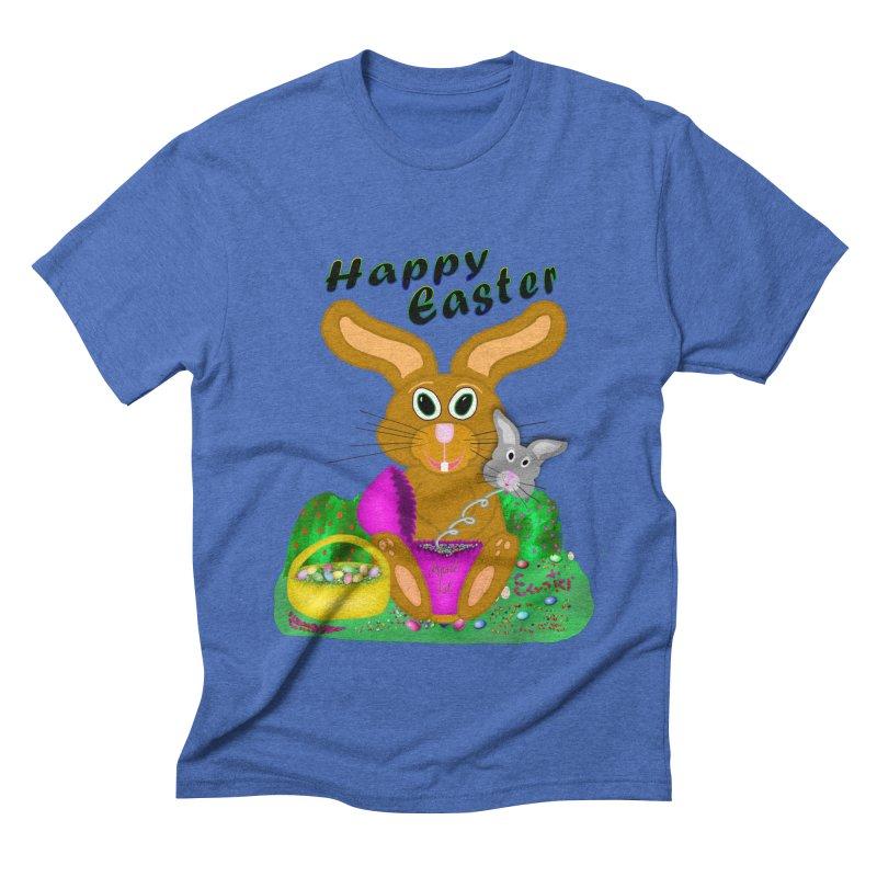 Prankster Bunny Men's Triblend T-Shirt by nicolekieferdesign's Artist Shop