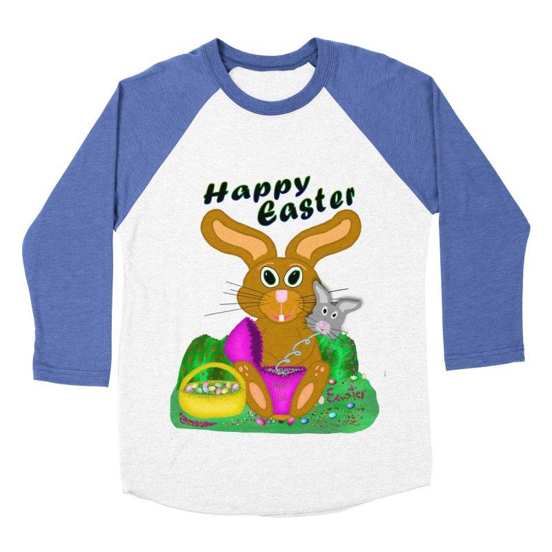 Prankster Bunny Women's Baseball Triblend T-Shirt by nicolekieferdesign's Artist Shop