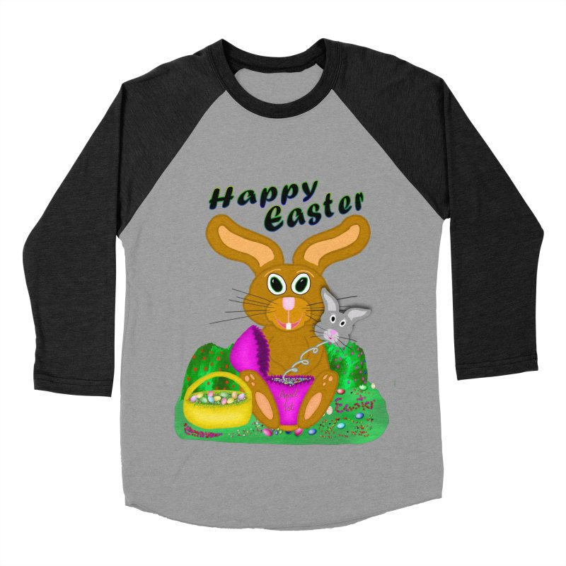 Prankster Bunny Women's Baseball Triblend Longsleeve T-Shirt by nicolekieferdesign's Artist Shop