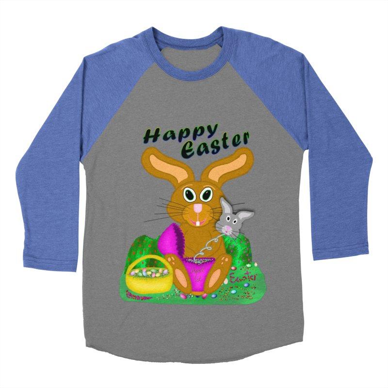 Prankster Bunny Men's Baseball Triblend Longsleeve T-Shirt by nicolekieferdesign's Artist Shop