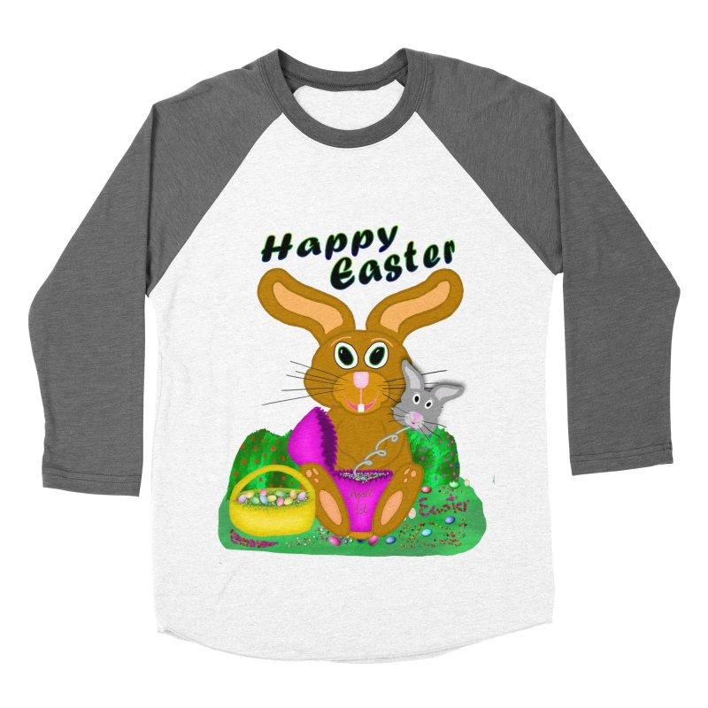 Prankster Bunny Men's Baseball Triblend T-Shirt by nicolekieferdesign's Artist Shop