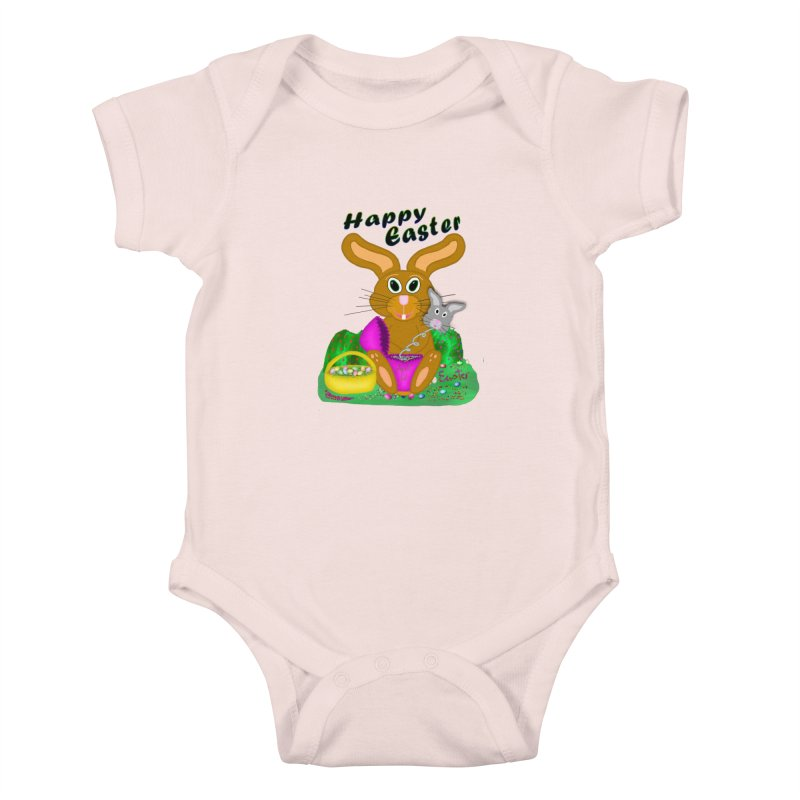 Prankster Bunny Kids Baby Bodysuit by nicolekieferdesign's Artist Shop