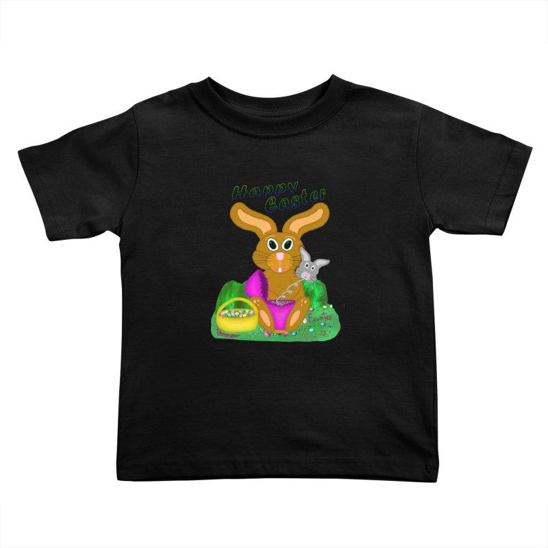 Prankster Bunny Kids Toddler T-Shirt by nicolekieferdesign's Artist Shop
